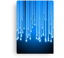 Blue glowing stars falling Canvas Print