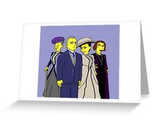 Downton Abbey Four Greeting Card