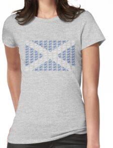 Bike Flag Scotland (Small) Womens Fitted T-Shirt
