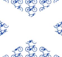 Bike Flag Scotland (Small) Sticker