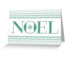 Noel Card (Green) Greeting Card