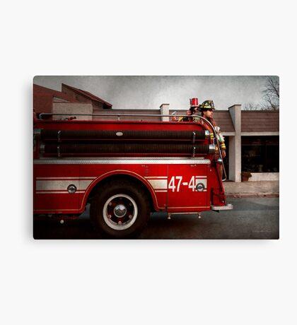 Fireman - Metuchen, NJ - Always on call Canvas Print