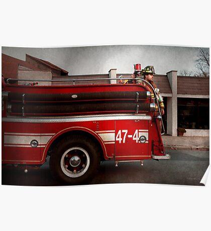 Fireman - Metuchen, NJ - Always on call Poster