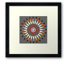 Indian Headdress inspired pattern Framed Print