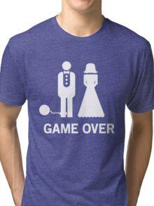 Wedding. Game Over. Ball & Chain Tri-blend T-Shirt