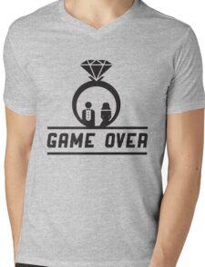 Game over Wedding Ring Mens V-Neck T-Shirt