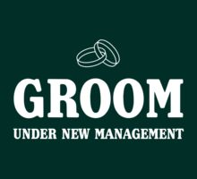 Groom. Under new management by bridal