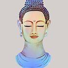 Blue buddha close up by rainbowflowers