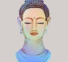 Blue buddha close up by rainbowflowers