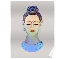 Blue buddha close up Poster