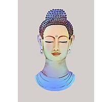 Blue buddha close up Photographic Print