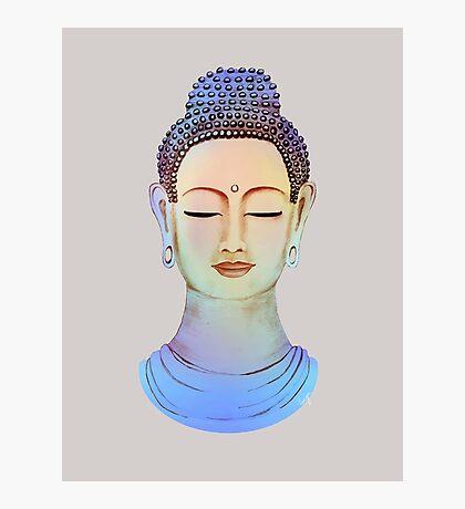 Blue buddha close up Photographic Print