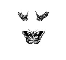 Harry Styles' Bird and Butterfly Tattoos by judymoy