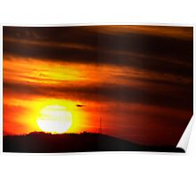 Virginville Sunset December 7, 2013 Poster