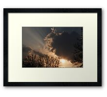 Sunshine and Clouds Framed Print