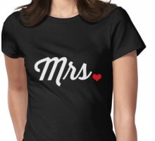 Mrs Heart Womens Fitted T-Shirt