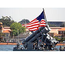 Old Glory - USS Chosin Photographic Print