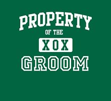 Property of the Groom XOX Womens Fitted T-Shirt