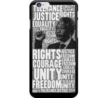 Nelson Mandela typography iPhone Case/Skin