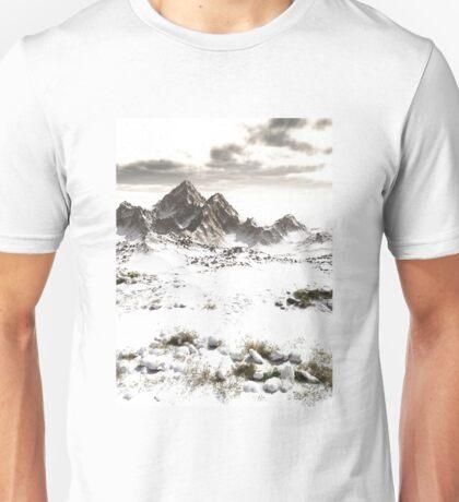 Snowy Winter Mountain Landscape Unisex T-Shirt