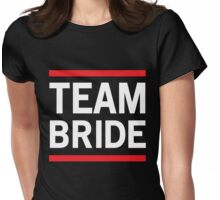 Team Bride - Red Lines Womens Fitted T-Shirt