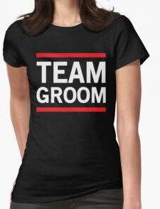 Team Groom - Red Lines Womens Fitted T-Shirt