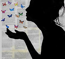 butterfly kisses by Loui  Jover