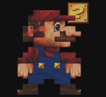 8-Bit Mario T-Shirt by DiamondDesigns