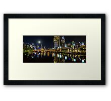 Melbourne by Night Framed Print