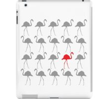 One Red Flamingo in the Flock iPad Case/Skin