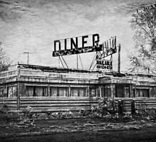 Diner in B&W by Debra Fedchin
