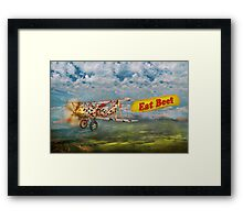 Flying Pigs - Plane - Eat Beef Framed Print