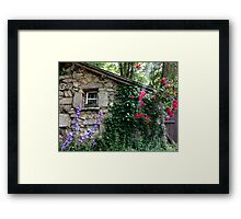 Flowers in the Rough Framed Print