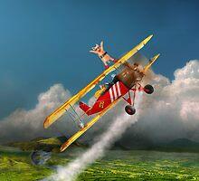 Flying Pigs - Plane - Hog Wild by Mike  Savad