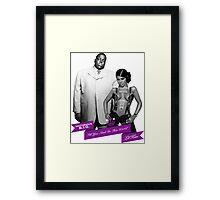 Mr. & Mrs. White Framed Print