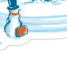 Going home snowman Sticker