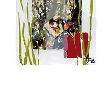 abstract fish  by Julie  Savard
