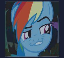 Rainbow Dash Season 4 Funny Face by LopperUK