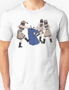 Dalek Babes Destroy Tardis T-Shirt