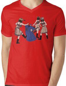 Dalek Babes Destroy Tardis Mens V-Neck T-Shirt