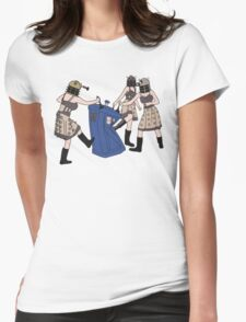 Dalek Babes Destroy Tardis Womens Fitted T-Shirt