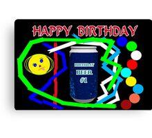 Birthday Beer Canvas Print