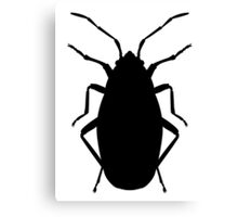 Beetle Silhouette Canvas Print