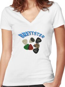 Brettster Women's Fitted V-Neck T-Shirt