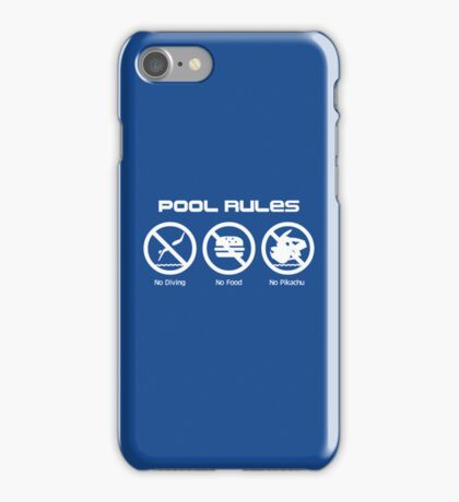 Pool Rules iPhone Case/Skin