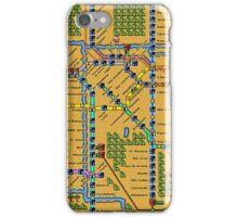 São Paulo City Metropolitan Transportation Map iPhone Case/Skin