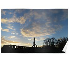 Swirling Clouds Over St Andrews Cathedral Poster