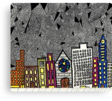 Big City Snow Fall Canvas Print