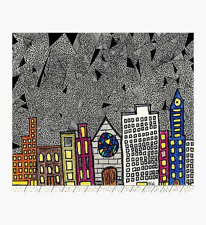 Big City Snow Fall Photographic Print