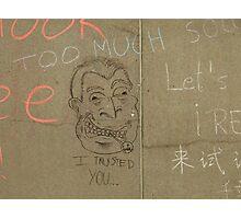 Public graffitti found on the walls of Toronto City Hall Photographic Print